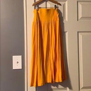 XXS Petite Golden Yellow Loft Skirt